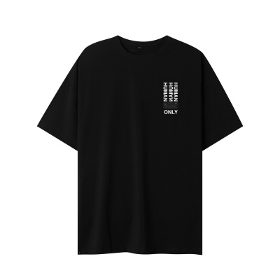 ONLY HUMAN TEE - BLACK