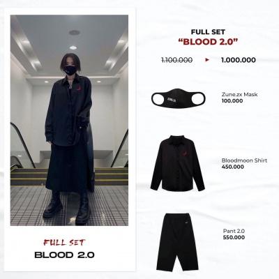 "Full set ""Blood 2.0"" ( Bloodmoon Shirt - Pant 2.0 - Mask Zune.zx)"