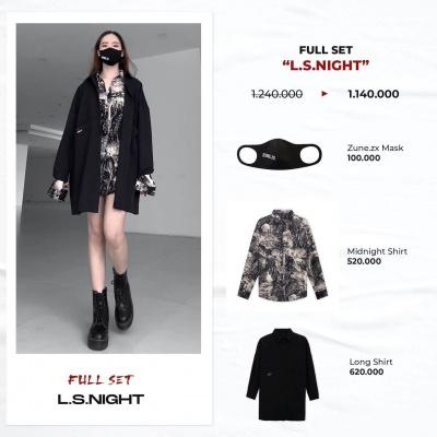 "Full set ""L.S.Night""  (Long Shirt - Midnight Shirt - Mask Zune.zx)"