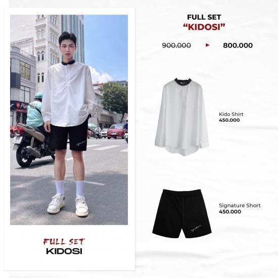 "FULL SET ""KIDOSI"" ( Kido Shirt - Signature Short )"