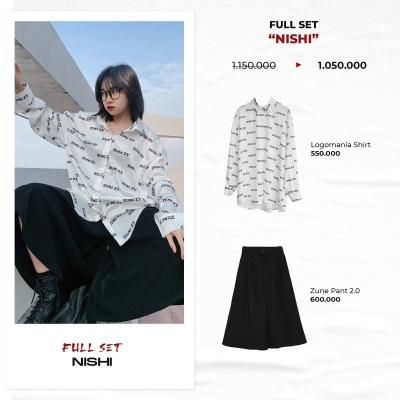 """FULL SET """"NISHI"""" ( Logomania Shirt - Zune Pant 2.0 )"""